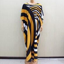2020 ワンダフル美しいアフリカdashikiファッションデザイン黄色プリント女性ドレスアフリカ冬のファッション女性のドレスパーティー