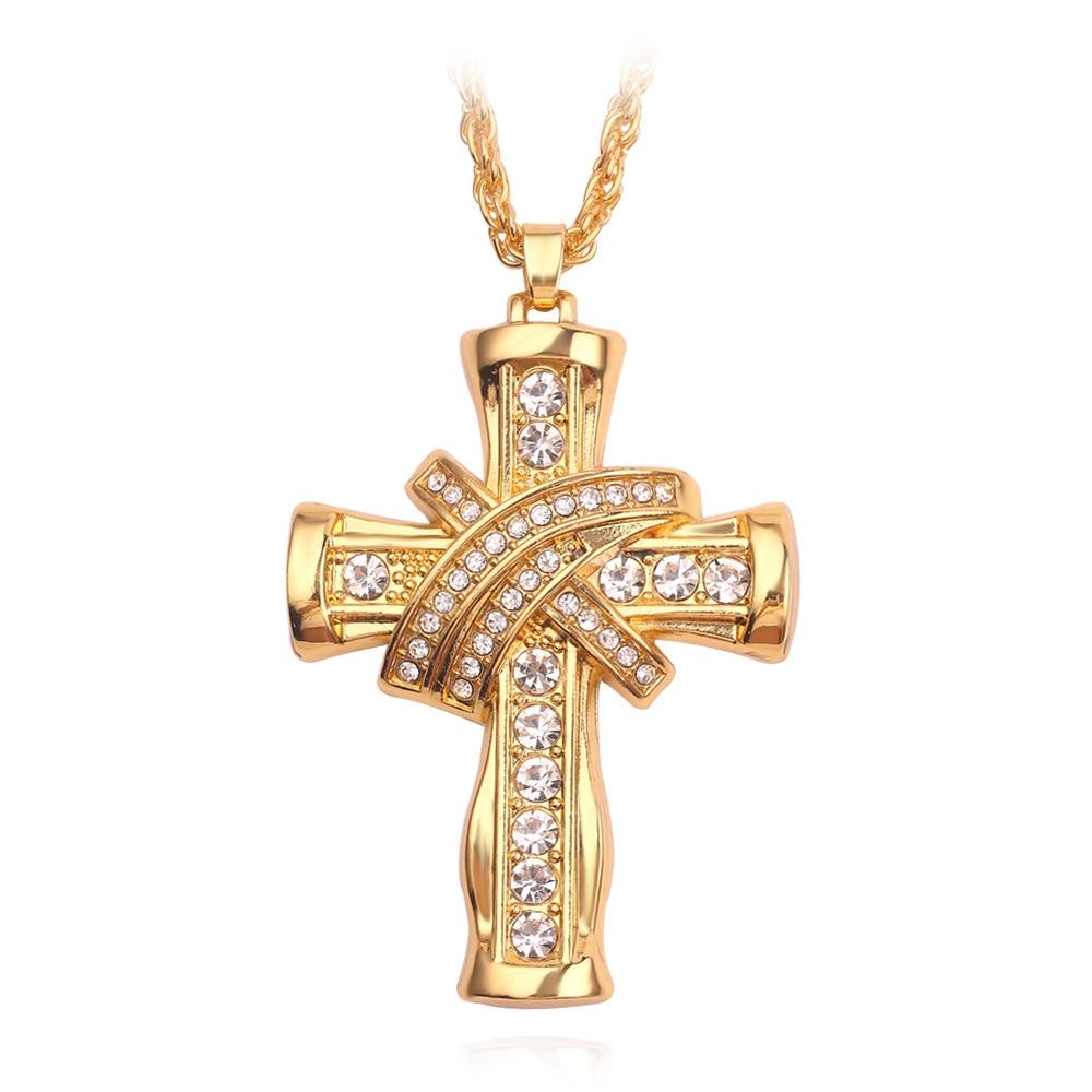 Jésus croix collier femmes croix pendentif collier hommes religieux croix pendentif collier