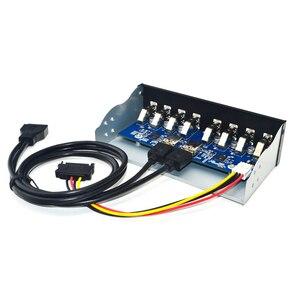 Usb-хаб с 8 портами, USB 5,25, USB 3,0, Фронтальная панель, разветвитель, USB 3,0 концентратор для ПК, несколько USB, разветвитель, концентратор для компьют...
