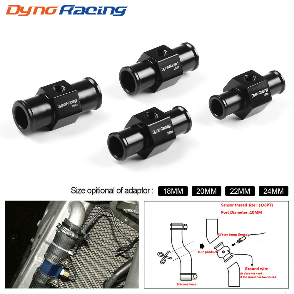 Dynoracing Water Temp Gauge Radiator Temperature Water Temp Joint Pipe Sensor 40mm 38mm 36mm 34mm 32mm 30mm 28mm Hose Adapter