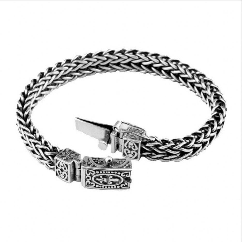 100% S925 pur argent bijoux personnalité ancre motif argent bracelet homme vintage style Thai argent bracelet hommes bracelet