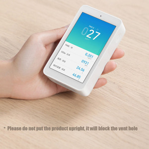 Image 5 - شاومي Mijia كاشف الهواء PM2.5 عالية الدقة 3.97 بوصة واجهة USB لمس الرطوبة الاستشعار رصد الهواء تستر ل Mihome