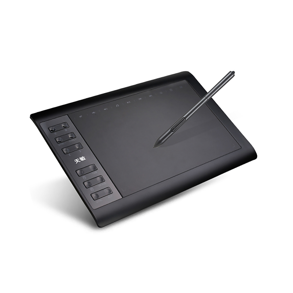 Entweg Levels Digital Drawing Tablet,10in Graphic Tablet 8192 Levels Digital Drawing Tablet with No need charge Pen Ultralight Grafische Tablet