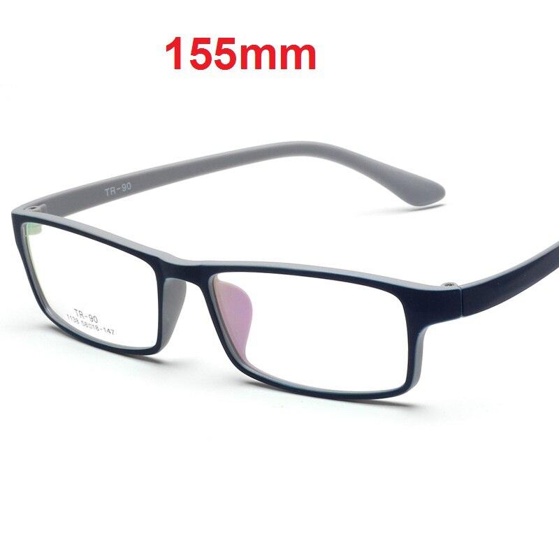 Cubojue 155mm Oversized Eyeglasses Frames Men Women Wide Face Glasses For Prescription Myopia Diopter Eyeglass TR90 Black Male