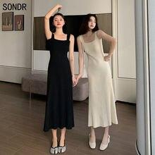 Женское трикотажное платье чехол средней длины тонкое свободное