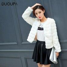 DUOUPA 2019 Autumn and Winter New Hot Rabbit Hair Slim Fur Short Plush Large Size Artificial Coat Female Fashion Temperament