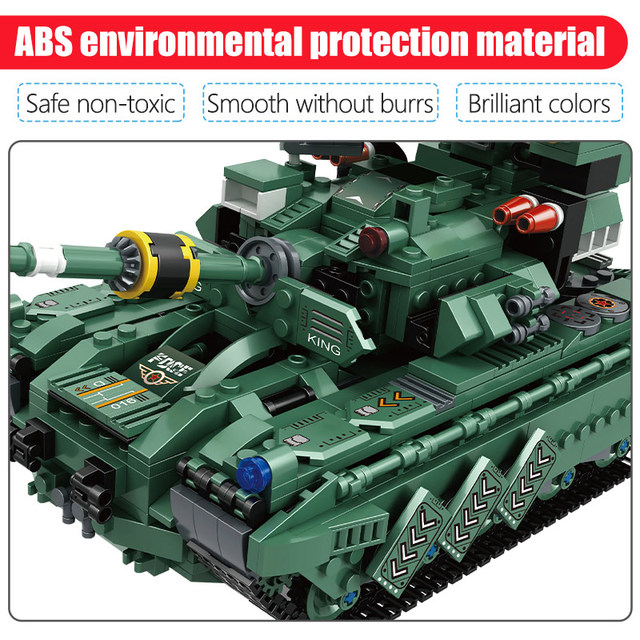 915PCS City Technic WW2 Tank Deformation Robot Building Blocks Military Army Chariot Car Figures Weapons Bricks Toys For Kids