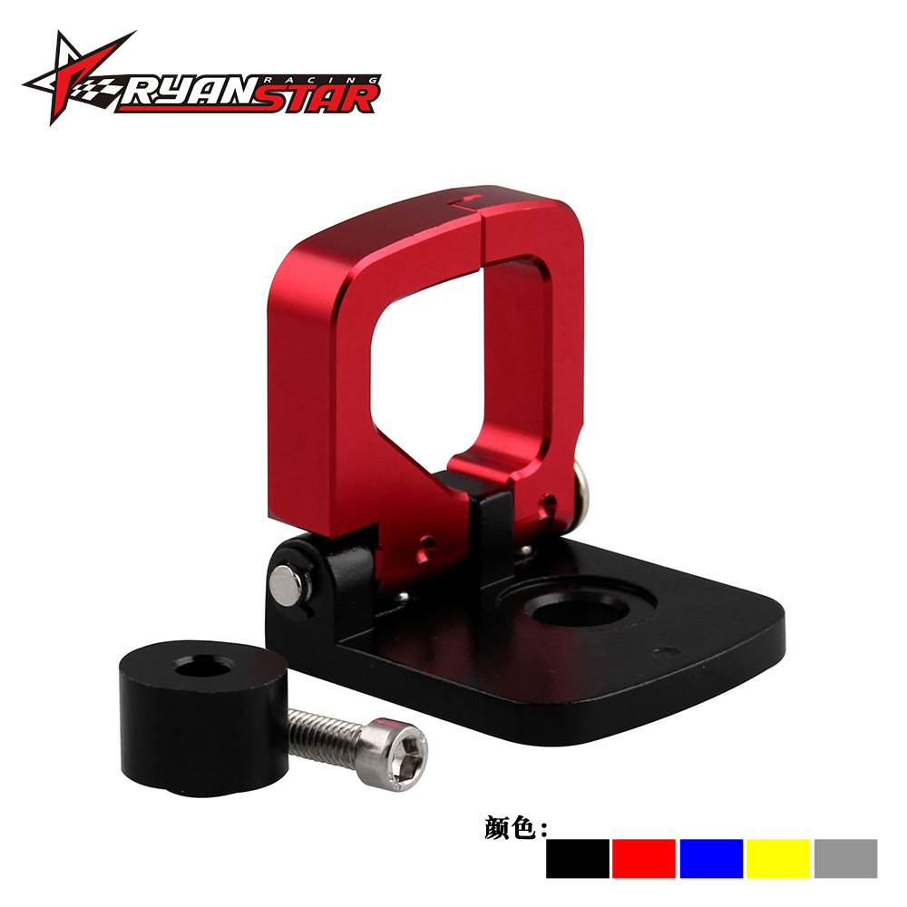 Manufacturers Direct Selling Motorcycle Refit Accessories Square Hook Universal CNC Aluminium Alloy Hook Helmet Hangar Accessori
