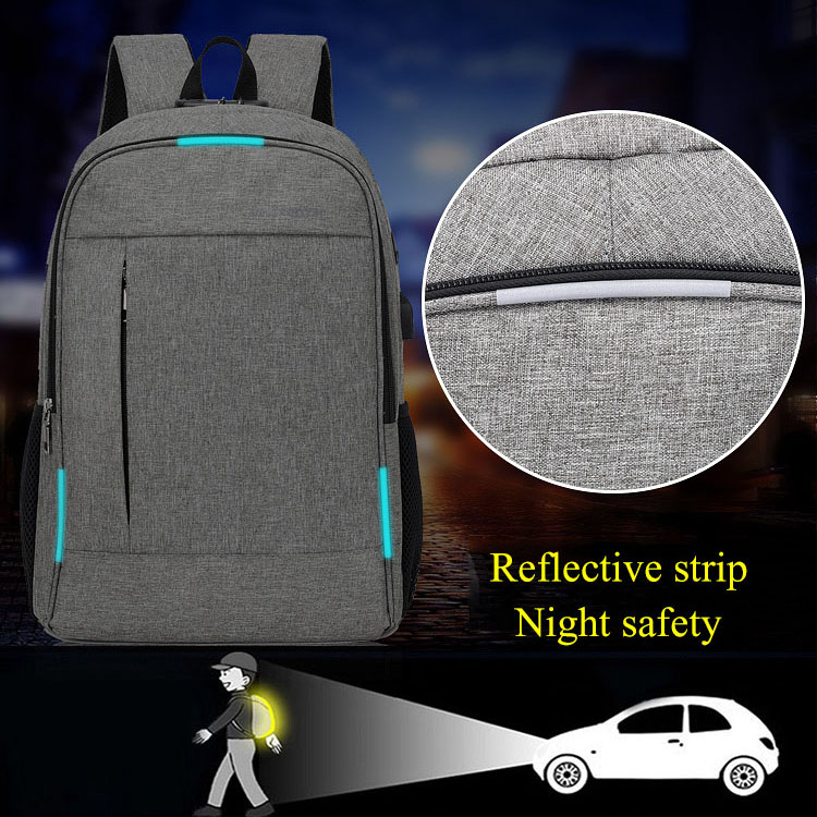 Image 5 - Anti Theft Man Backpack USB Charged laptop Large bagpack Travel Bag For Men School Student Boy girls mochila hombre 2019-in Backpacks from Luggage & Bags