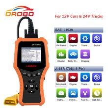 LAUNCH CR HD Pro escáner lector de código OBD2 para coche y camión, herramienta de diagnóstico automático multilenguaje, 12V/24V, actualización gratuita