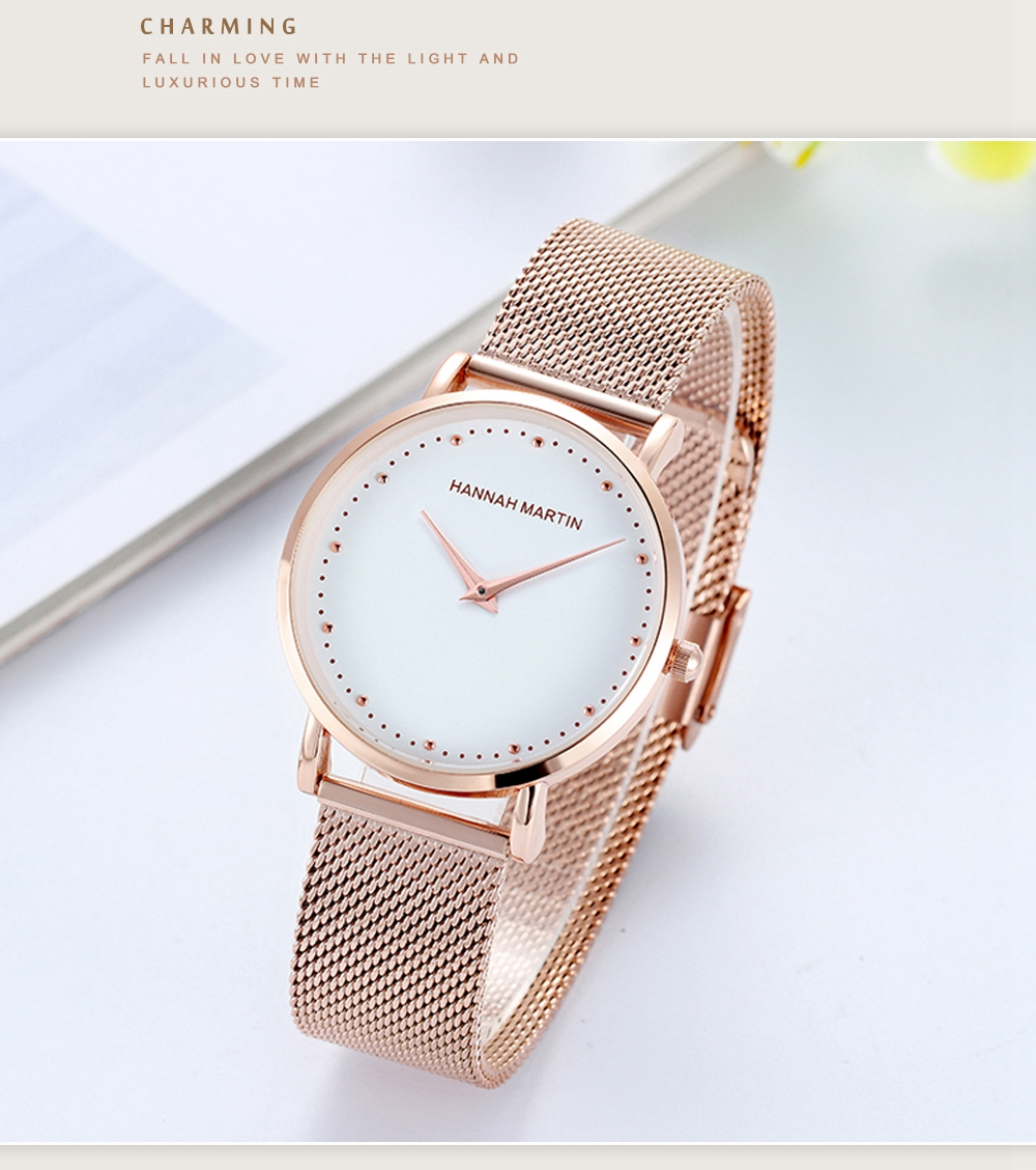 Japan Imported Movement + Sony Electronics Luxury Designer Impervious Steel Mesh With Watch Waterproof Buckle Female Table