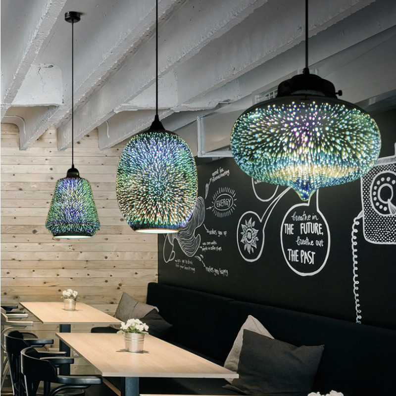 3d Stained Glass Star Hanging Led Light Light Covers For Ceiling Lights Lamparas De Techo Colgante Moderna Dining Light Pendant Lights Aliexpress