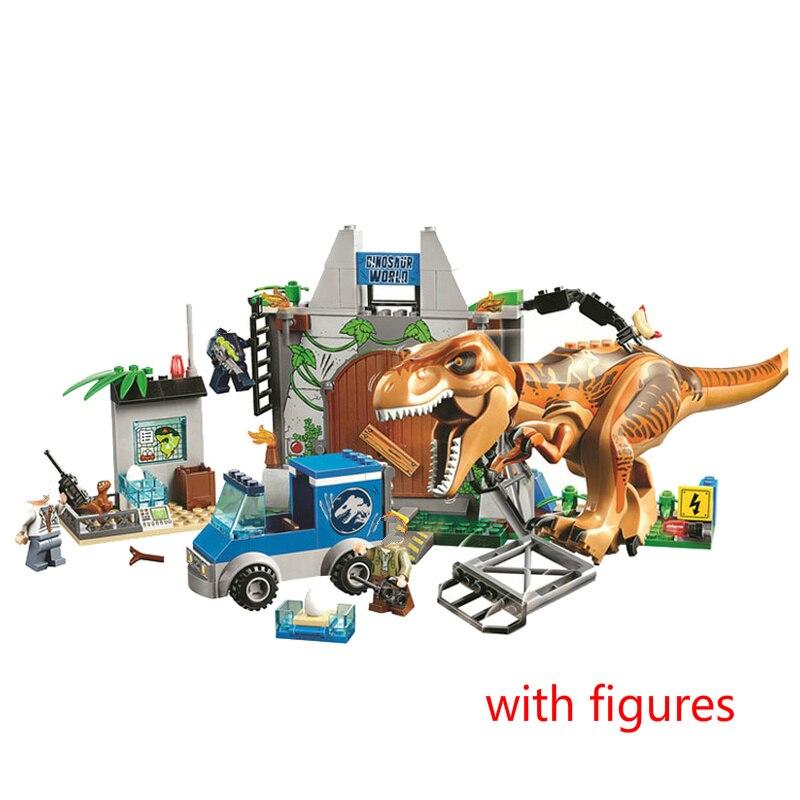 Jurassic World 2 Dinosaurs Building Blocks Tyrannosaurus Breakout Bricks Toys Figures Gifts Compatible Legoinglys Dinosaur 10758