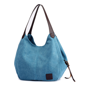 Image 5 - Canvas Bag Vintage Canvas Shoulder Bag Women Handbags Ladies Hand Bag Tote Casual Bolsos Mujer Hobos Bolsas Feminina 2020