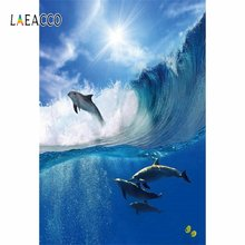 Laeacco летний Океанский Дельфин для серфинга фон фотосъемки