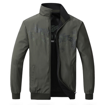 TIEPUS  5XL,6XL Jacket Men Fashion Embroidered Casual Spring and autumn Double Side Sportsing Brand Outerwear