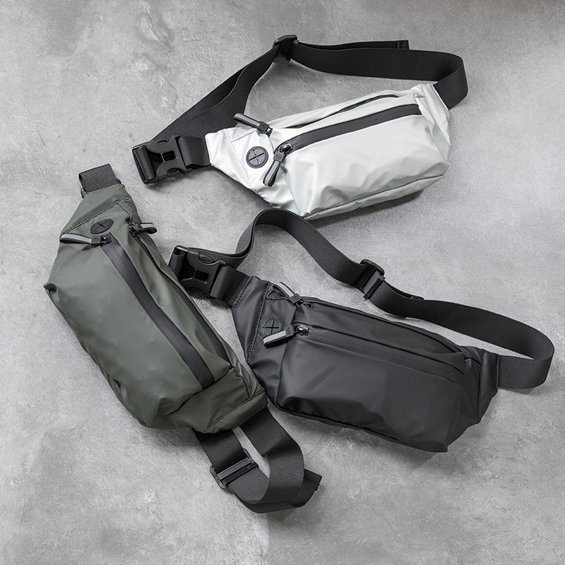 Waterproof Men Waist Bag Fanny Pack Fashion Running Chest Bag Unisex Sling Crossbody Bag Casual Hip Belt Bag Women Waist Packs