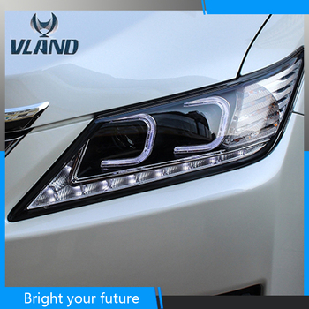 Vland Car Styling for Toyota Camry Headlights 2012-2014  LED Headlights DRL Projector Headlights Angel Eyes