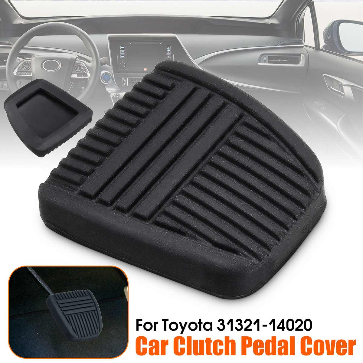 Werst Car Brake Clutch Pedal Pad Rubber Cover for Vauxhall Astra G//H /& for Zafira A//B Brake Clutch Pedal Rubber Pad