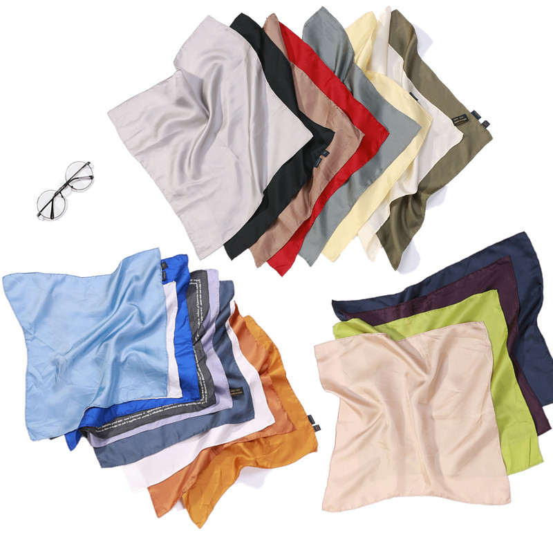 5 PACK 100% Pure Silk Small Square Handkerchief Men's Pocket Hanky 41cm 16