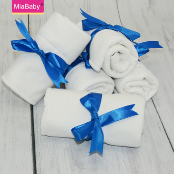 MiaBaby 5Pcs Square Bamboo Cotton Cloth Diaper Insert Tri Flat Insert Reusable Washable Inserts For Baby  Nappy