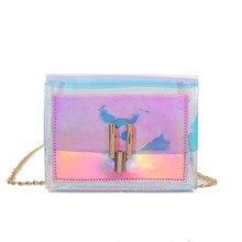 Fashion Women Shoulder Bag/Transparent Handbag/Jelly Crossbody Bag Clutch Handbag Colorful