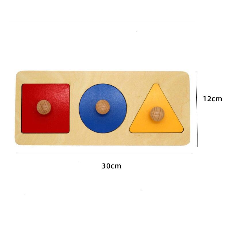 Kids Wooden Montessori Toys Memory Match Stick Educational Color Cognitive Geometric Shape Puzzles Toys For Children 38