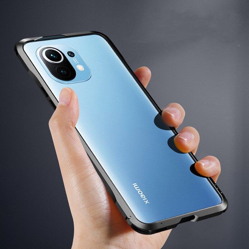 Mi 11 Metal Bumper Phone Case for Xiaomi Mi 11 Case Cool Shockkproof Aluminum Frame Cover for Xiaomi Mi 11 Protection Back Coque
