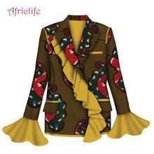 Antumn весенние африканские женские пальто с подкладкой и пуговицами