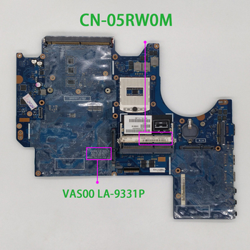 for Dell Alienware M17X R5 VAS00 5RW0M 05RW0M CN-05RW0M LA-9331P Laptop Motherboard Mainboard Tested cn 0xpdm5 0xpdm5 xpdm5 qxw00 la 7903p for dell latitude e5430 notebook pc laptop motherboard mainboard
