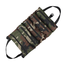 Car Tool Bag Foldable Roll Wrench Pouch Hanging Zipper Carrier Tote Working Multi-Purpose Camouflage Oxford Cloth Plier Holder