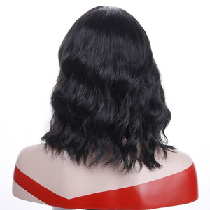 Image 2 - MUMUPI קצר קרלי מלא פאות wih פוני רך גלי שיער סינטטי טבעי שחור פאת שיער נשי פאת שיער יומי פאות