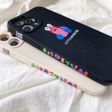 Funda de silicona suave para teléfono móvil iphone, carcasa protectora lateral de Monster para iphone 12 Mini 11 Pro Max INS Fashion SE 2020 7 8 Plus X XR XS