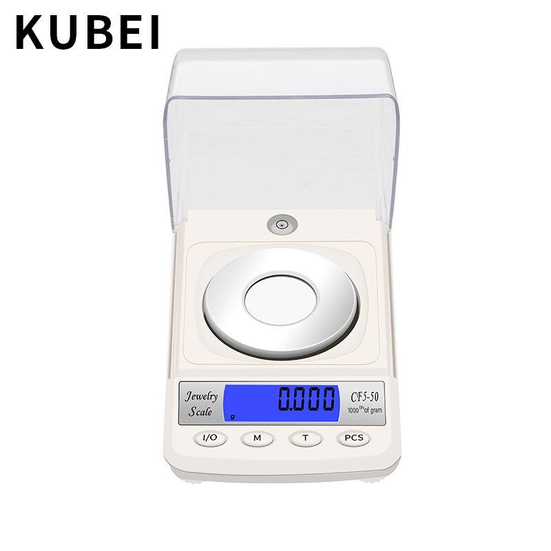 KUBEI ménage balances électroniques bijoux balances Mini or bijoux Balance électronique 0.001g haute précision petite échelle