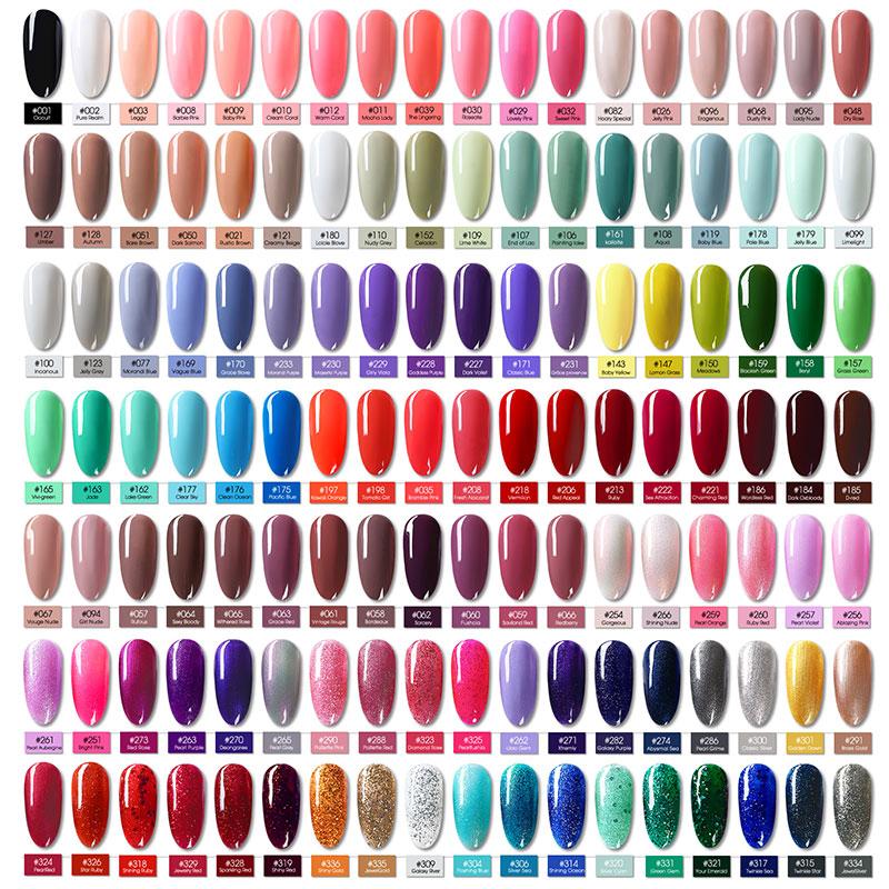 Saviland 126 Colors Semi Permanent Top Coat UV LED Gel Varnish Soak off LED Gel Varnish Nail Gel in Nail Gel from Beauty Health