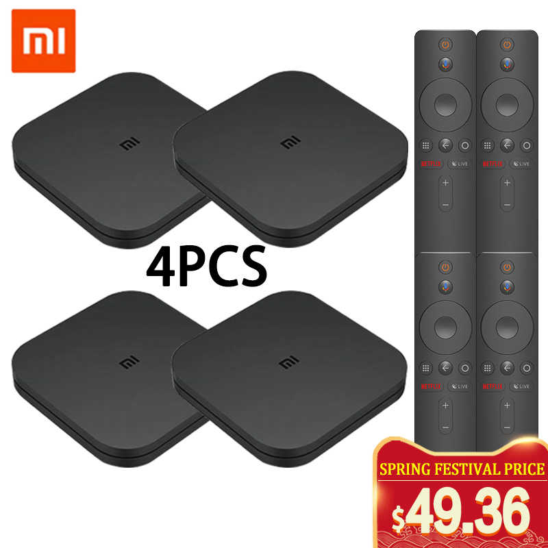 Original Xiaomi MI BOX TV BOX S New Arrival Android 8.0 2G/8G Smart Quad Core HDR Movie Set-top Box Multi-language Wholesale