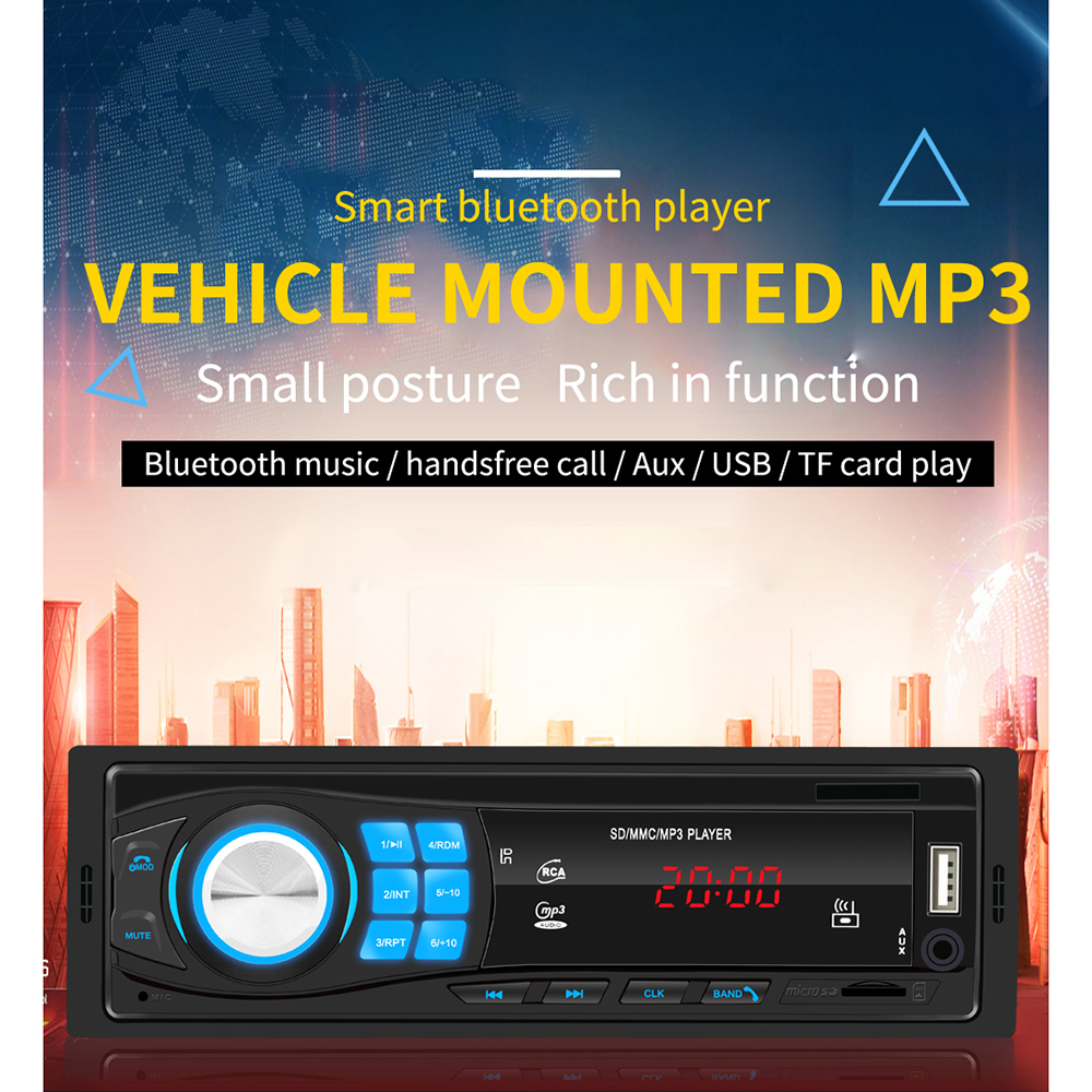 1 DIN Car Stereo MP3 Player Single Car Stereo MP3 Player In Dash Head Unit Bluetooth USB AUX FM Radio Receiver for Toyota ford