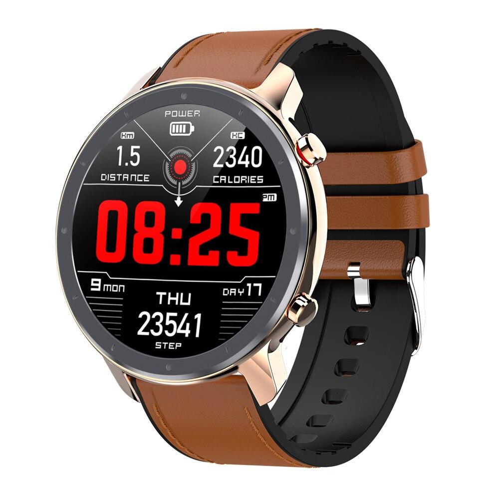L11 Smart Watch Men ECG 1.3 inch Multiple Sports Full Touch Screen IP68 Waterproof Heart Rate Blood Pressure Monitor Smartwatch