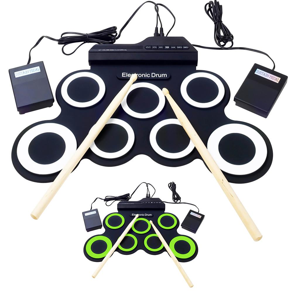Folding Hand Roll Up Thicken Silicone Kids Electronic Drum Percussion Instrument Kids Electronic Drum Percussion Instrument Kids