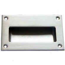 1PCS 304 Stainless Steel 12.8cm x8.3cm Rectangle Shaped Embedded Door Handle, Hidden Buckle Dark Handle,Sliding Knob