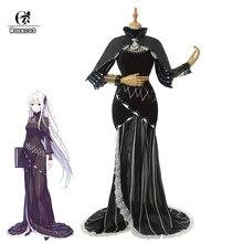 ROLECOS yeniden sıfır başlangıç ömrü başka bir dünya Echidna Cosplay kostüm Cosplay Anime Echidna kostüm kadın elbise pelerin cadılar bayramı