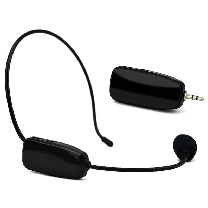 Uhf Wireless Microphone Professional 2 In 1 Handheld Head-Wear Mic Voice Amplifier For Speech Teaching