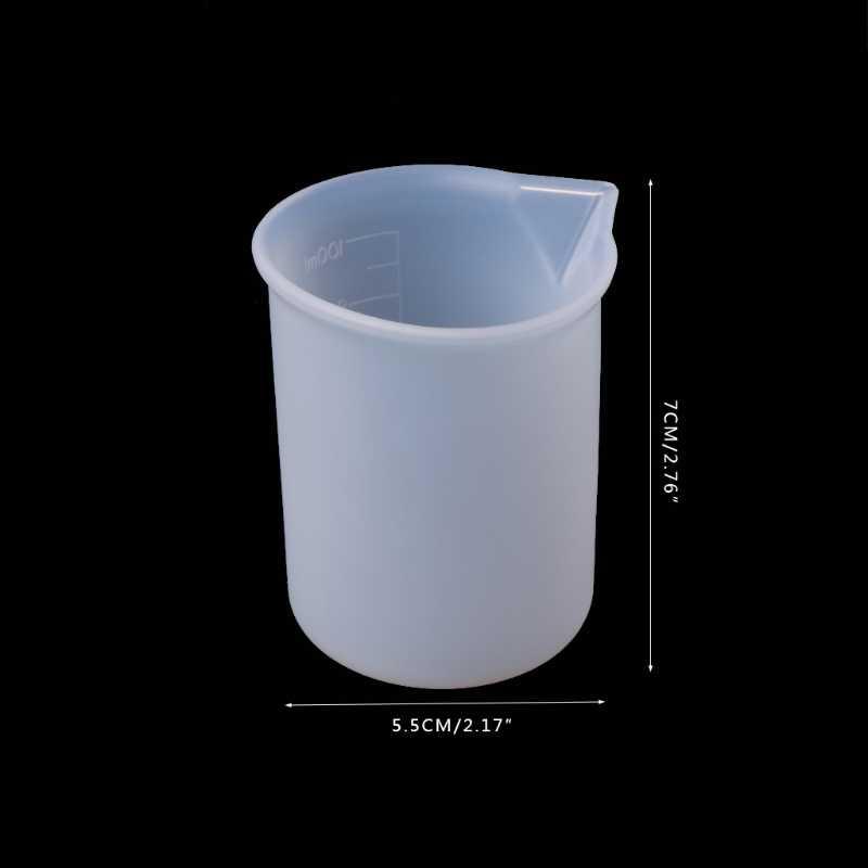 100ml tasse à mesurer Silicone résine colle outils fabrication de bijoux artisanat fait main bricolage