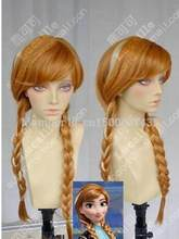 Jewelry Wig Frozen Anna Ginger Brown / Highlights Braided Cosplay Party Wigs Free Shipping(China)