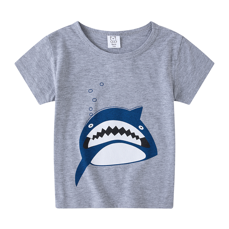 Fashion 2020 Summer Toddler Boys Fashion Casual Short Sleeve O-neck Cartoon Print T-Shirt Tops Camiseta Christmas Shirts