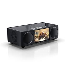 SOAIY S99 Video Bluetooth Speaker Desk Remote Control Wireless Portable HIFI Room Clock LED Display Microphone FM Car Subwoofer