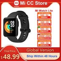 Xiaomi-reloj inteligente Mi Lite versión Global, pulsera deportiva de 1,4 pulgadas con GPS, Monitor de ritmo cardíaco, Bluetooth, compatible con 5,0