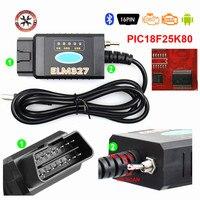 ¡Caliente! ELM327 USB FTDI PIC18F25K80 Chip ELMconfig lector de código para HS puede/MS puede Forscan ELM 327 Bluetooth OBDII herramienta de diagnóstico