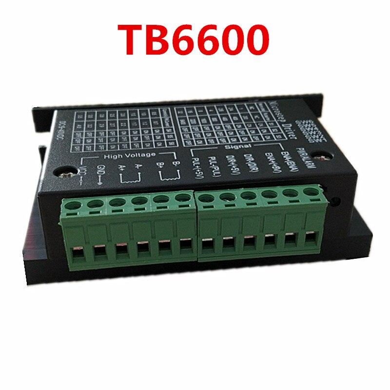 Бесплатная доставка Драйвер шагового двигателя TB6600 Nema17 Nema23 Nema34 42/57/86 4A DC9-40V 1 Ось шаговый двигатель ЧПУ гравировальный станок