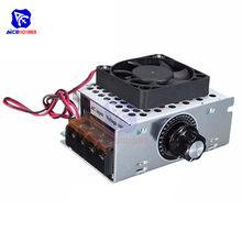 Diymore 110V AC 4000W SCR elektryczny Regulator napięcia ściemniacz Regulator temperatury Regulator prędkości silnika moduł w/wentylator